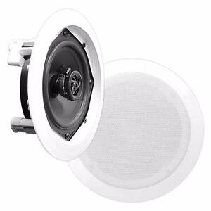 PyleHome (PDIC61RD) In-Wall / In-Ceiling Dual 6.5-inch Speaker System, 2-Way, Flush Mount, White