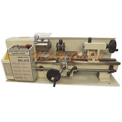 Precision Digital Metal Mini Lathe Variable Speed 400w 2500rpm 7 X 12 Machine