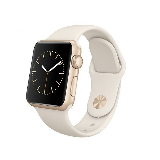 Apple Watch Sport 38mm. Perfect conditionin Wimbledon, LondonGumtree - Apple Watch Sport, 1st Generation. 38mm Gold Aluminium Case and Antique white silicone sports band. Excellent condition rarely worn and always used with screen protector and case protector. Comes in all original Apple packaging (a lot of it barely...