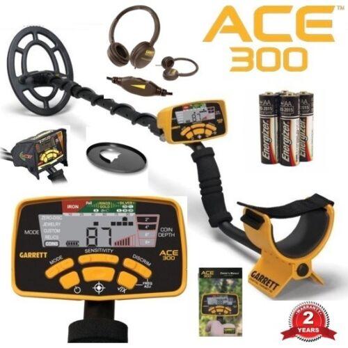Garrett Ace 300 Metal Detector~Headphones~Waterproof Coil ~ Free Accessories