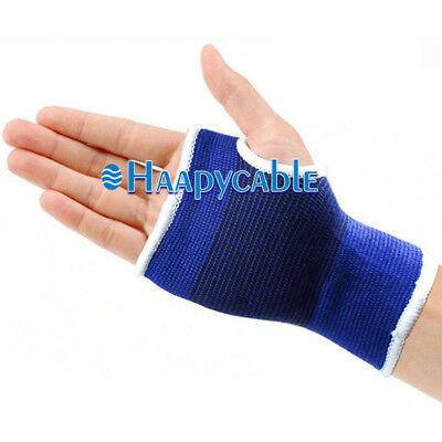 New 1Pair Elastic Wrist Support Hand Brace Carpal Tunnel Pain Relief Sport (Elastic Wrist Hand Brace)