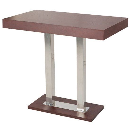 c5693ecb872 Caprice Bar Table Rectangular In Wenge And Stainless Steel