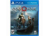 PlayStation 4 pro white pearl with god of war