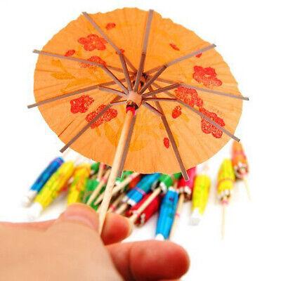 10Pcs Paper Cocktail Parasols Umbrellas Party Wedding Supply Drink Stick Fruit