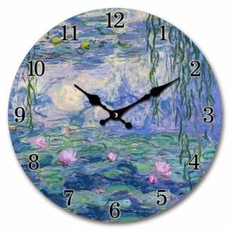 Art Wall Clock : Monet Water Lillies