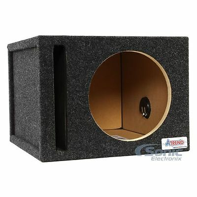 "Atrend 10SQV 10"" Single Pro Series Vented/Ported Subwoofer Enclosure Box"