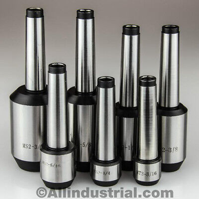 7 Pc Mt2 Morse Taper End Mill Holder Set 316 - 34 14 516 38 12 58