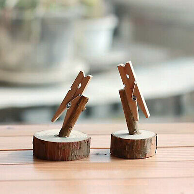 Wooden Branch Stand Card Holder Set Of 2