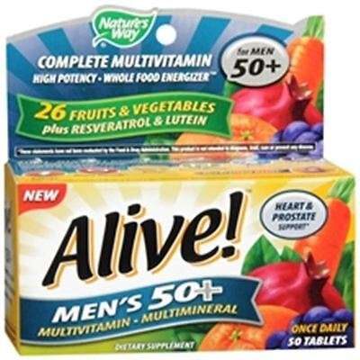 Alive  Natures Way Once Daily Mens 50  High Potency Multivitamin 50 Ea
