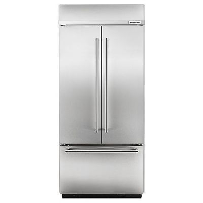 """KitchenAid 20.8 Cu. Ft. 36"""" Width Built In Stainless  French Door KBFN506ESS"""
