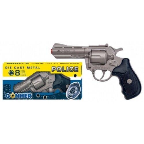 NEW Gonher 357 Magnum Style 8-Shot Toy Cap Gun Revolver