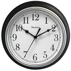 WestClox 46991A Black 9 Simplicity Home Office Battery Powered Wall Clock