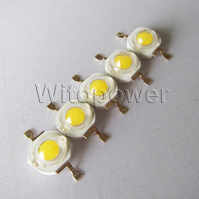 50x 3W high power LED Bead Lamp Chip Warm White Light 180LM 140°Super Bright on Rummage