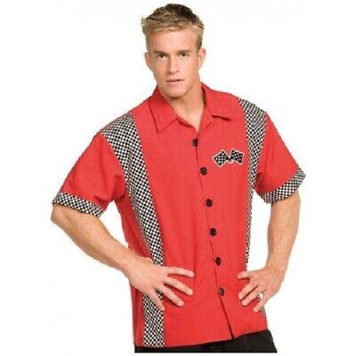 Pit Crew Costume (Mens Pit Crew Shirt, Racing Team Shirt, Costume, Underwraps)