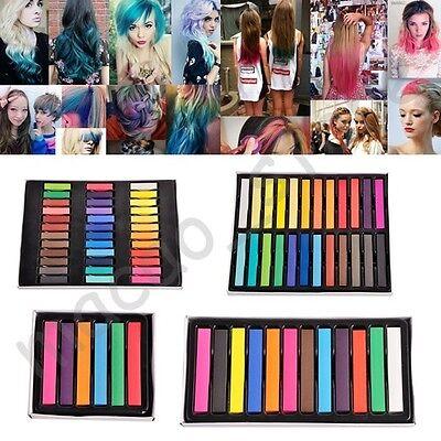 36 Colors Non-toxic Temporary Hair Chalk Dye Soft Pastels Salon Kit Show Party