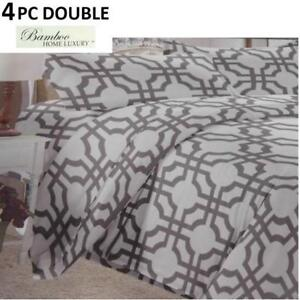NEW BAMBOO 4PC BED SHEET SET DOUBLE HAPS3500D 223405187 HOME LUXURY 3500 THREAD COUNTS WRINKLE FREE BEDDING BEDROOM