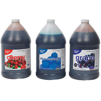 Sugar Free Snow Cone Shaved Ice Syrup 1 Cs 4 Gal 1404 Blue Raspberry Flavoring