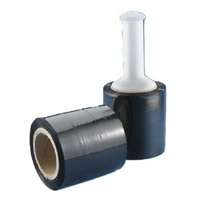5 In. X 1000ft 80 Gauge 12 Rolls Stretch Shrink Film Hand Wrap Handle Black