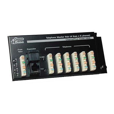 Channel Plus H616 Telephone Master Hub 4 x 6 Phone Line Distribution Module RJ45 ()