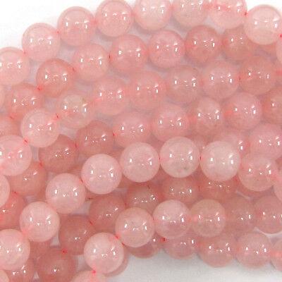"Pink Rose Quartz Round Beads Gemstone 15"" Strand 4mm 6mm 8mm 10mm 12mm"