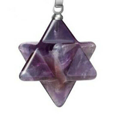 Natural 3D Merkaba Star Pendant Chakra Reiki Healing Crystal Pendulum Pendant