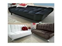Modern, new, sofa bed, with, 3 seater, leather sofa.