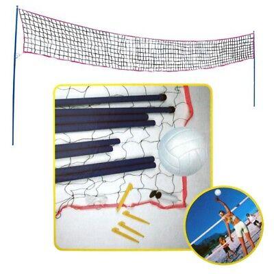 ALERT Sports Volleyball-Set mit Netz, Ständern, Ball und Pumpe