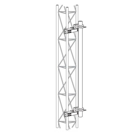 """ROHN KY2068A15 Satellite Antenna Side Arm Mount 1.50/"""" OD Pipe for ROHN 25G Tower"""