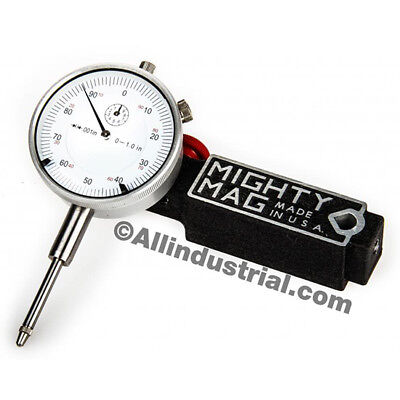 Mighty Mag 0-1 Dial Indicator Combo Set Inspection Holder Magnetic Base Kit