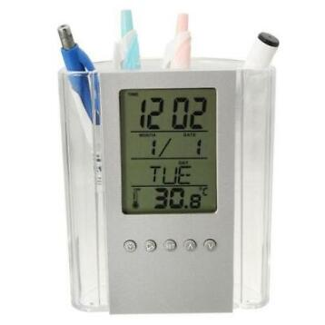Digitale Pen Pencil Holder Wekker Met Thermometer Kalende...