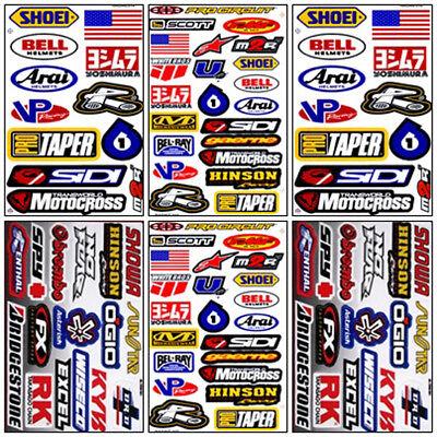 Motocross Racing Decal Sticker Kit Set 6 Sheets #MX-601
