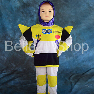Buzz Lightyear Cosplay Costume Fancy Halloween Party Full Set Size 2T-7 FC024
