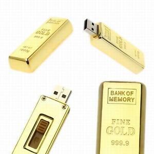 Gold bar style 8GB 8 Gig 8Gig 8 gb USB Flash Pen Drive MEMORY STICK Quality