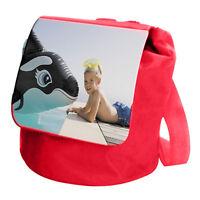 Zainetto Rosso Per Bambini Personalizzato Con La Tua Foto E Testo Rosso-  - ebay.it