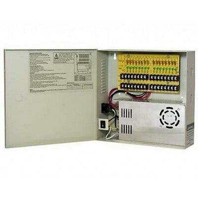 16 Channel 12v DC 30A High-Power Distribution Box: PTC Fuse-Less, 1.8A/ch max