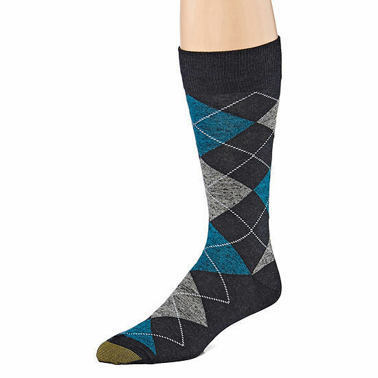 GOLD TOE Men's Argyle Premier Cotton Blend Dress Socks, Mult