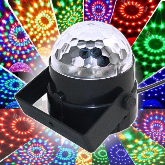 3W Digital LED RGB Crystal Magic Ball Effect Lights Disco DJ Stage Lighting AU