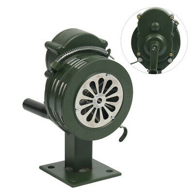 Hand Crank Siren Horn 110dB Manual Operated Metal Alarm Base Mount Air Raid