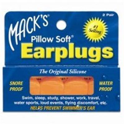 Mack's Pillow Soft Ear Plugs, Hot Orange 2 pairs
