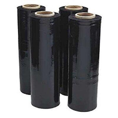 18 X 1500 80 Ga 8 Rolls Pallet Wrap Stretch Film Hand Shrink Wrap 1500ft Black