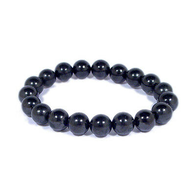 Shungite Power Bead Bracelet 10mm Round Beads