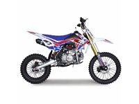 Ten10 Pit Bikes now in stock 125cc 140cc standard & big wheel versions 6 months warranty prices from