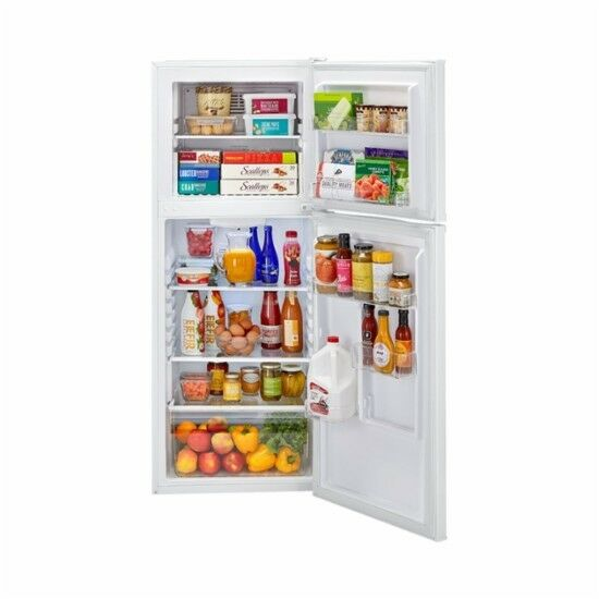 HAIER FrostLess 9.5 Cub Refrigerator & Top Freezer White. Se