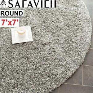NEW SAFAVIEH 7 ROUND AREA RUG SG151-7575-7R 244420154 SHAG SILVER CARPET FLOORING DECOR ACCENTS MAT