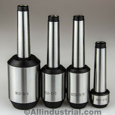 4 Pc Mt2 Morse Taper End Mill Holder Set 14 38 12 34 38-16 Drawbar