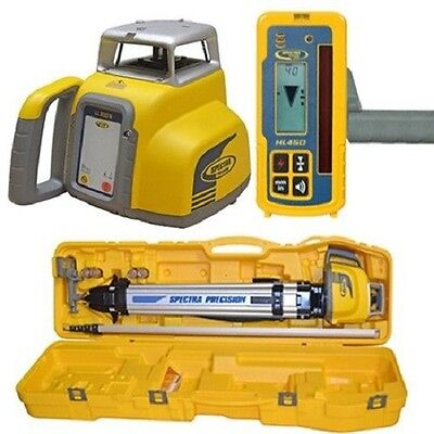 Spectra Ll300 N1 Automatic Self-leveling Laser Level Hl450 Receiver Rod Tenths