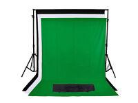 Photography Studio Background/Green Screen Kit
