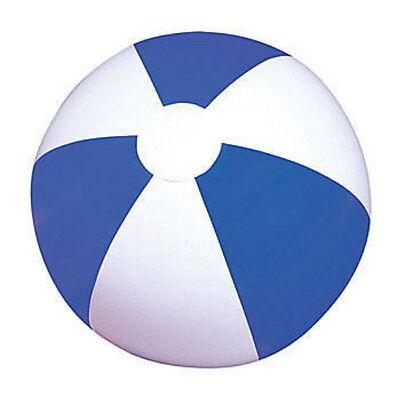 "LOT OF 12 BEACH BALLS 12"" BEACHBALL BALL POOL PARTY BLUE WHITE FAST FREE SHIP"