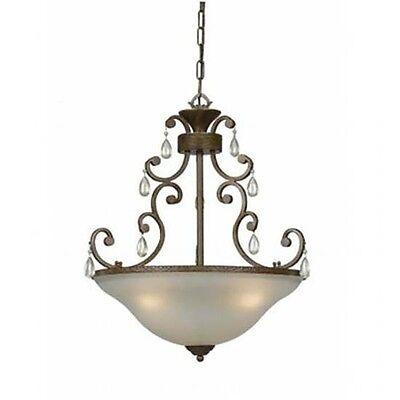 Crystal Accent Chandelier Triarch 33192 3 Lt Antique Bronze White Scarvo Glass  Antique White Crystal Chandelier