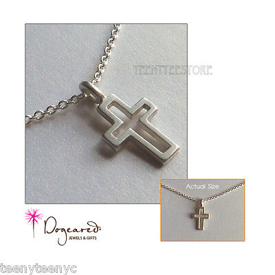 Cut Out Cross - Dogeared Sterling Silver Cut Out Modern Cross charm & 16